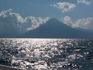 Volcanoes surrounding Lake Atitlan