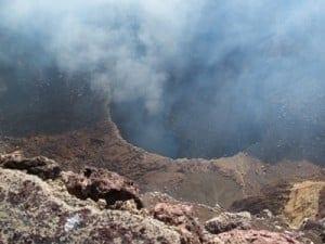 Smoke from the Masaya Volcano