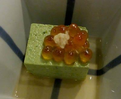 Tofu and ikura