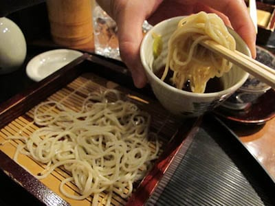 soba noodles with housemade dipping sauce