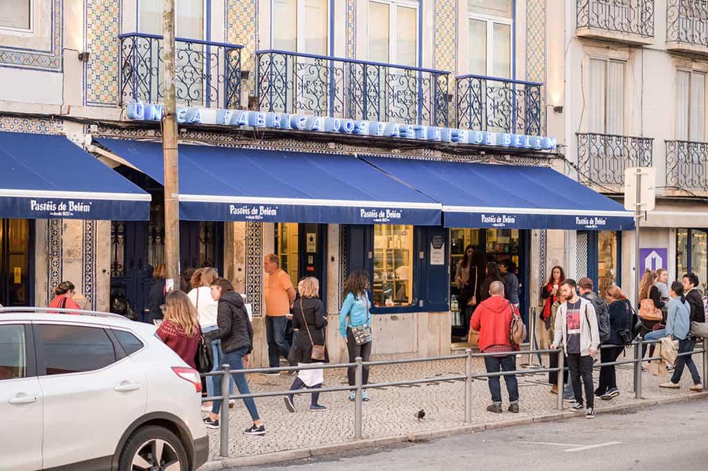 Pasteis de Belem bakery in Lisbon