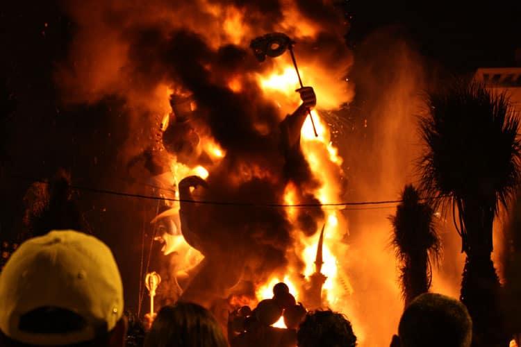 Las Fallas Valencia Burning