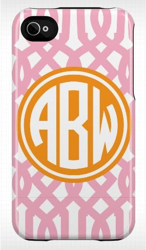 Phone case with initials