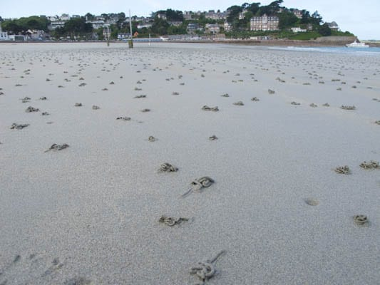 Plage Trestraou Perros-Guirec Sand Art