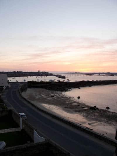 Roscoff Sunset Window View