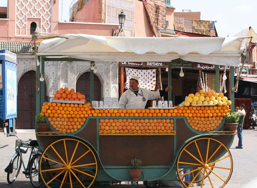 Marrakech-Orange Juice Stand
