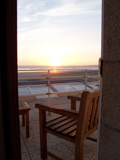 Sunset at the Hotel de la Plage