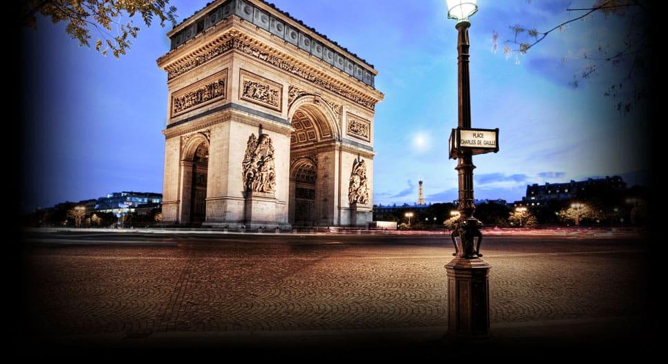 Arc de Triomphe near the Hotel Elysées Flaubert