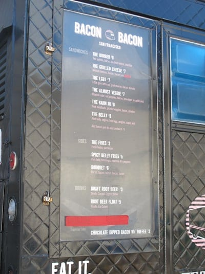 Bacon-Bacon-Menu