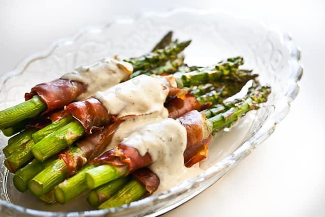 Prosciutto vs Iberian Ham: Asparagus Wrapped in Crispy Prosciutto