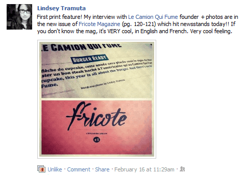 Lindsey La Fricote Magazine Article