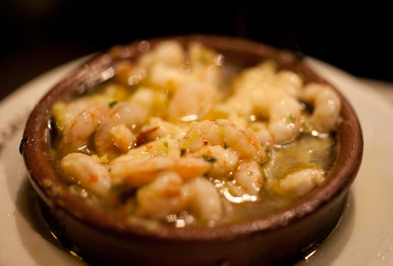 Tapas Madrd - Shrimp from La Casa del Abuelo Madrid