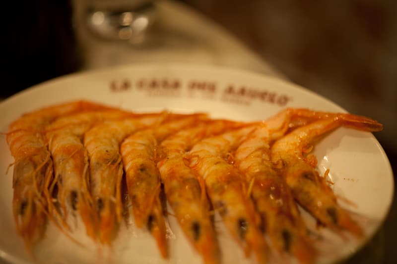 Tapas Madrid - Shrimp from La Casa del Abuelo Madrid