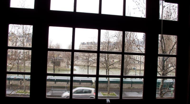 View of Île Saint-Louis from the La Cuisine Paris window