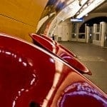 Red Chairs in Paris Metro