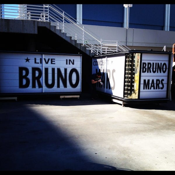 Bruno Mars set