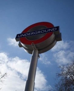 Underground Sign in London