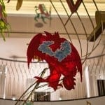Red Dragon inside Fortnum and Mason