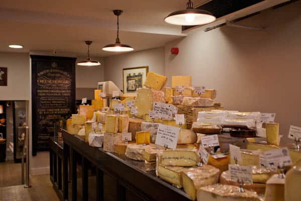 UK Cheese inside Paxton and Whitfield