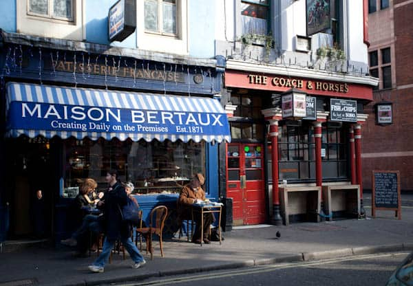 French Patisserie and British Pub