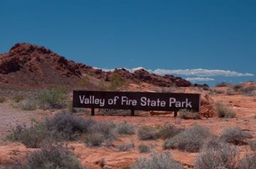 Valley of Fire Entrance