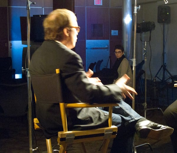 Brad Bird interview with me in the background