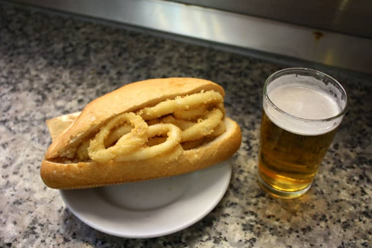 Madrid Food Specialty Bocadillo de calamares