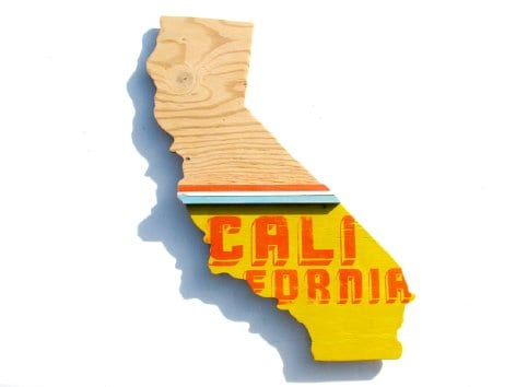 Supermarket California Map Cut Out