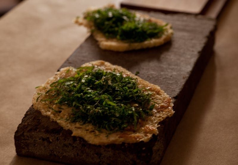 Herb toast with browned butter