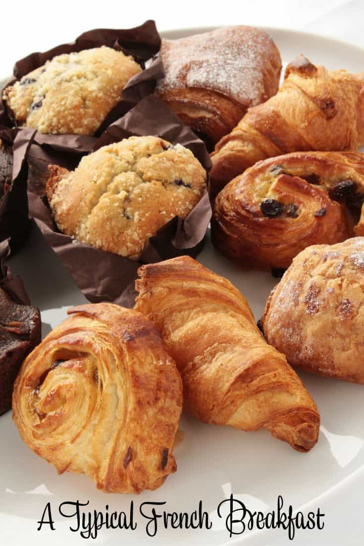 Typical French Breakfast Pastries