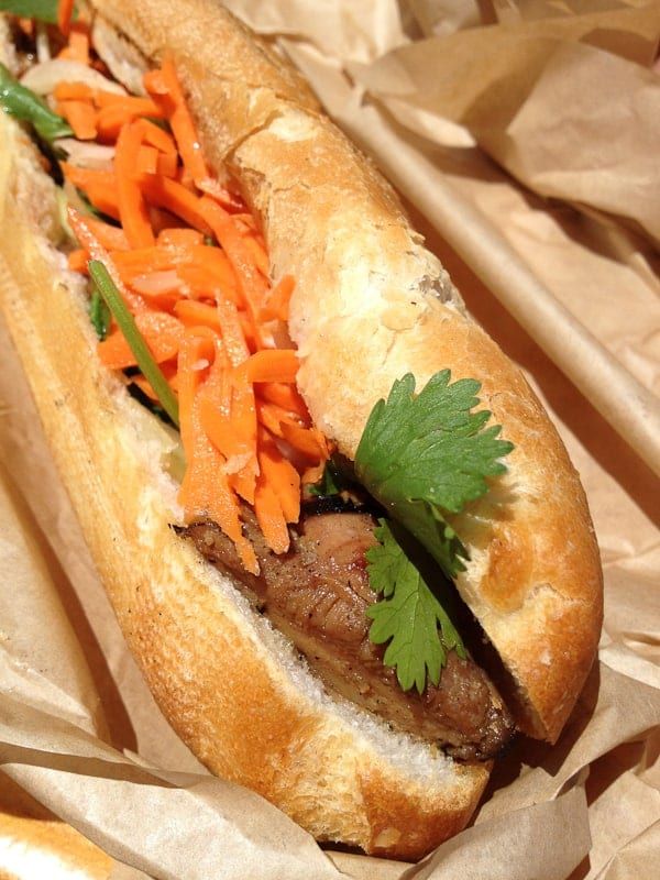 Lil Green Cyclo Chicken Bahn Mi Sandwich