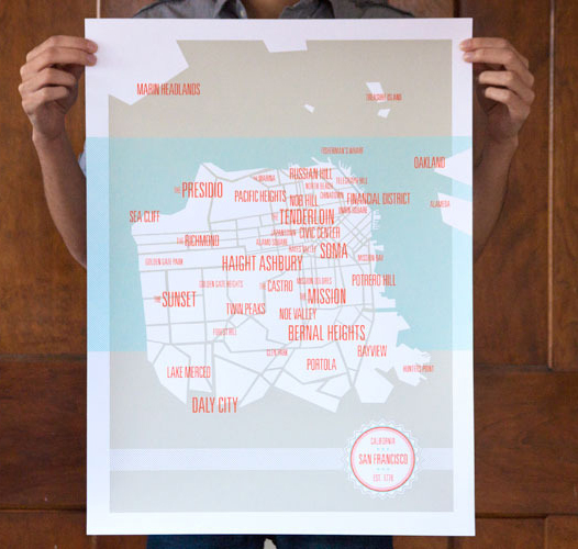 san francisco neighborhoods map