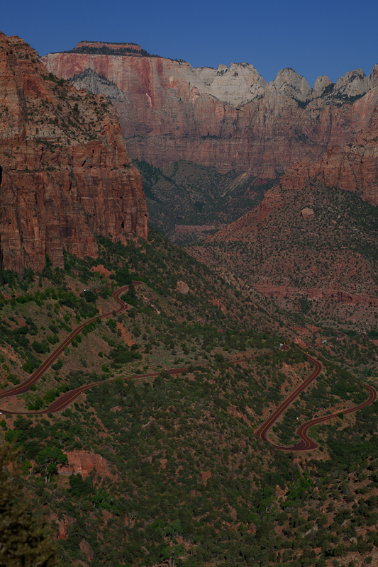 Looking down from Overlook Canyon Trail