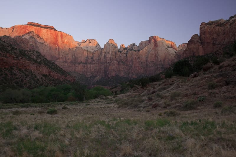 Sunrise Zion National Park