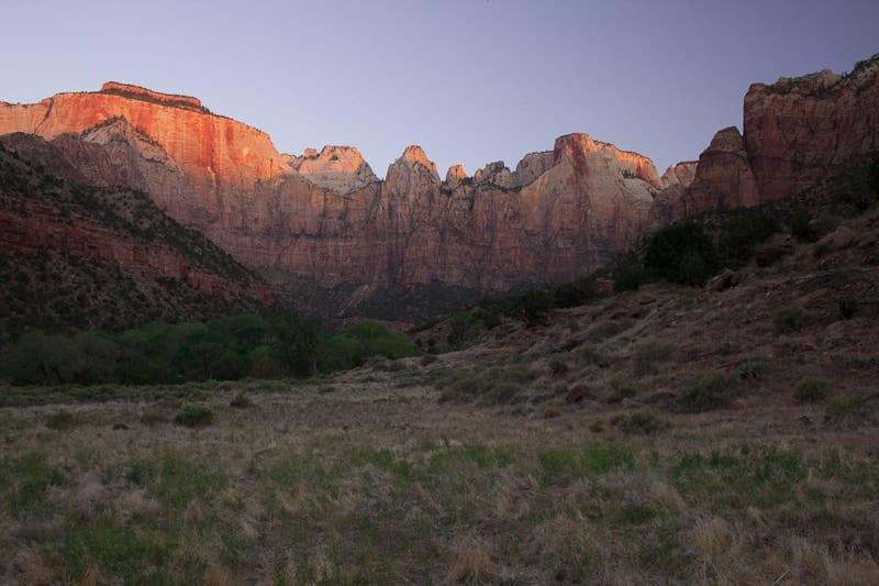 Sunrise Zion National Park