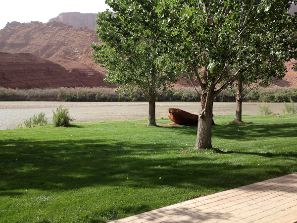 The Colorado River from our front porch at Sorrel River Ranch