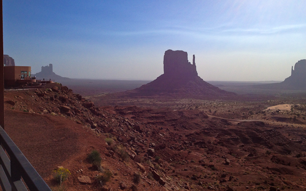 The view from our room at the View Hotel in Monument Valley