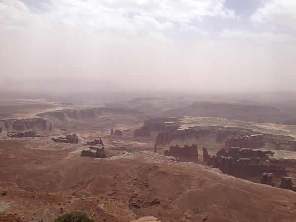 Dust storm over Canyonlands