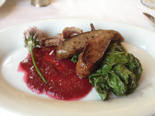 American Elk Sausage at the Sorrel River Ranch Restaurant