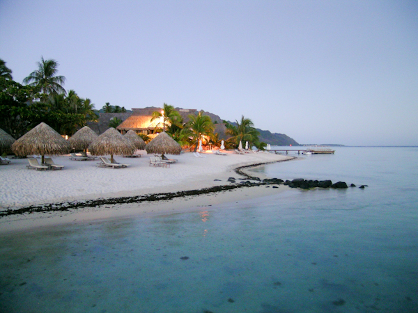 Moorea at the evening