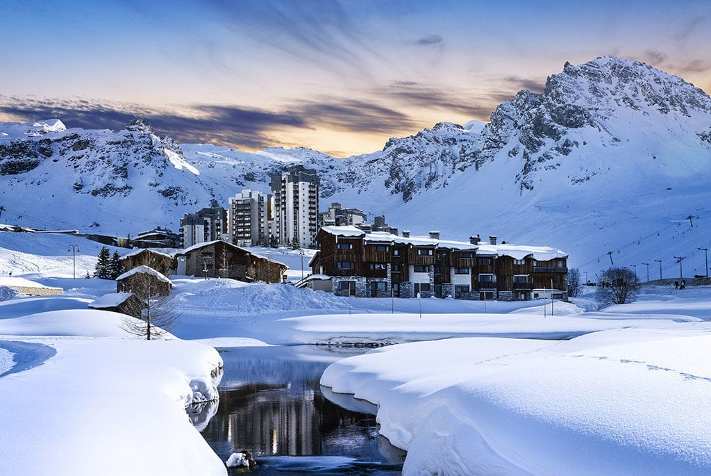 Tignes, alps, France