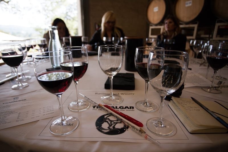 Wine blending tools at Ravenswood Winery