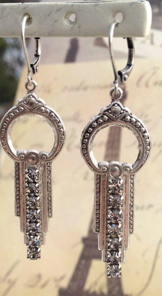 art-deco-rhinestone-encrusted-earrings