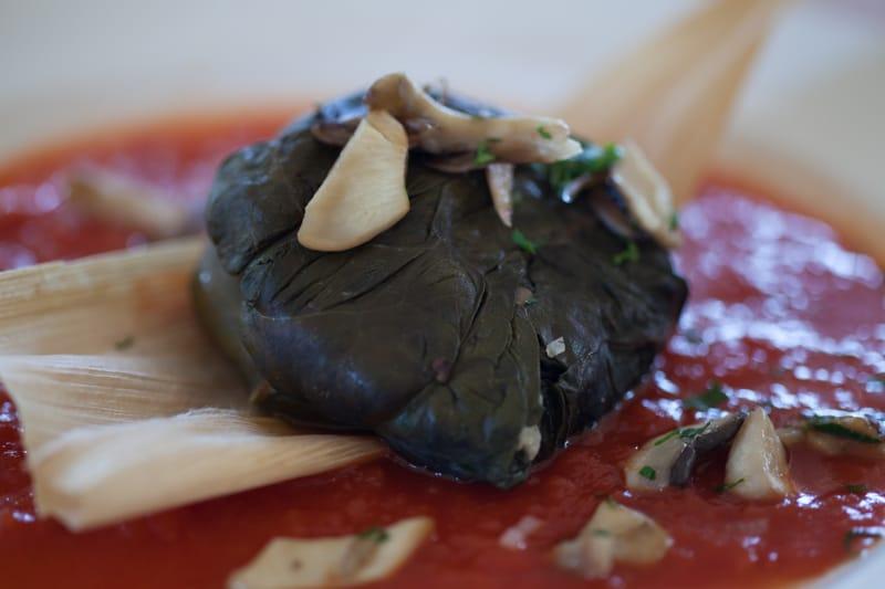 CIndy's Backstreet Kitchen Mushroom Tamale