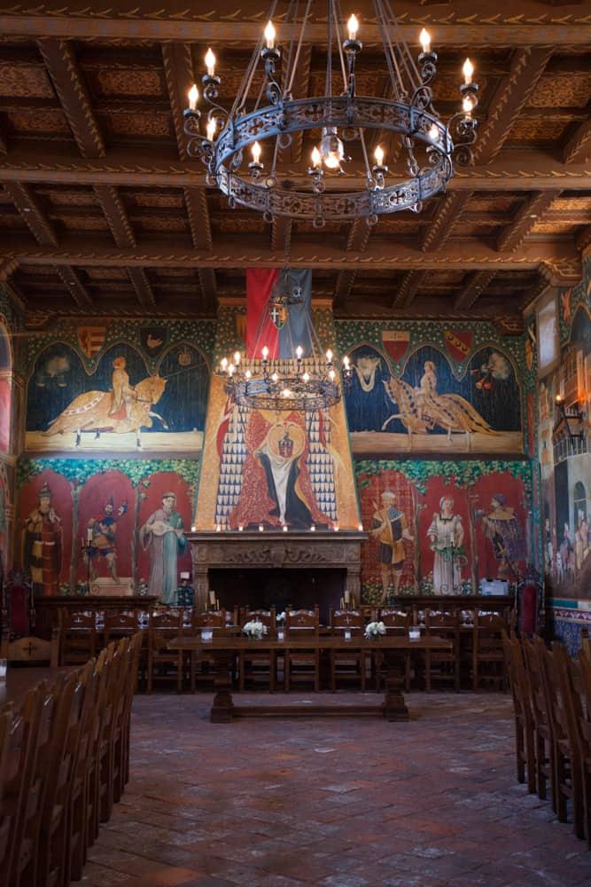 Castello di Amorosa main hall