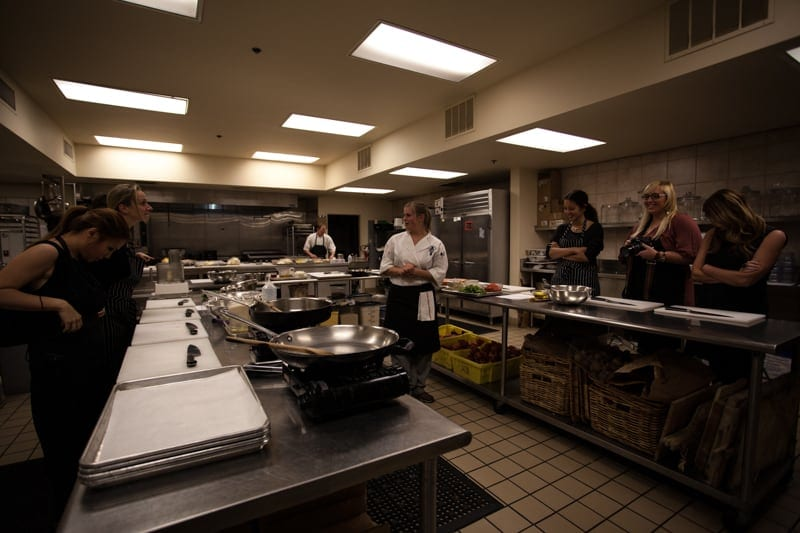 Ramekins Culinary School kitchen
