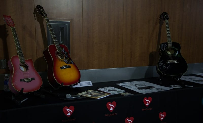 MusiCares Table backstage at the GRAMMYs
