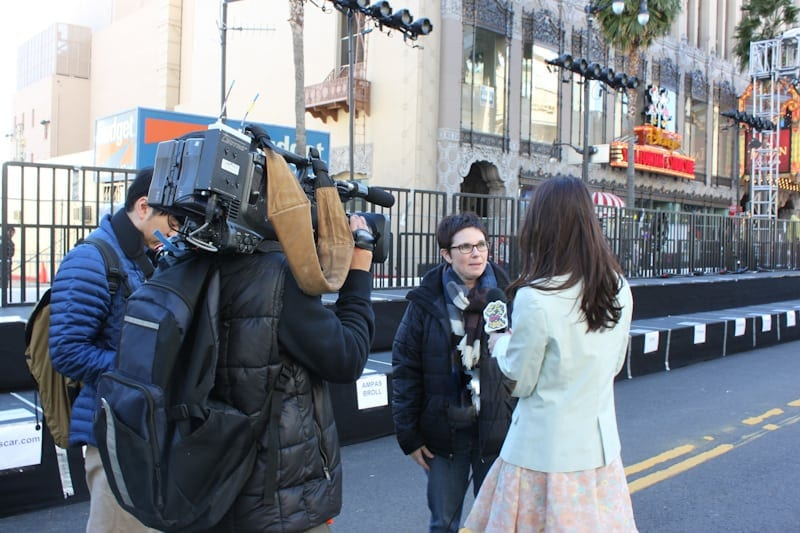 Andi Getting Interviewed for Japanese TV