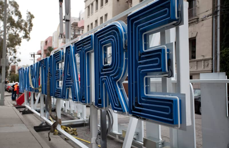 Dolby Theatre Sign Close-up