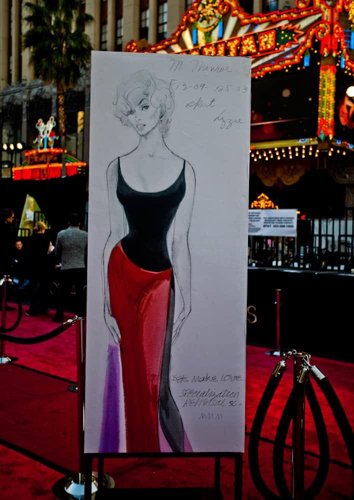 Marilyn Monroe on the red carpet